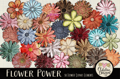Flower Clipart Elements