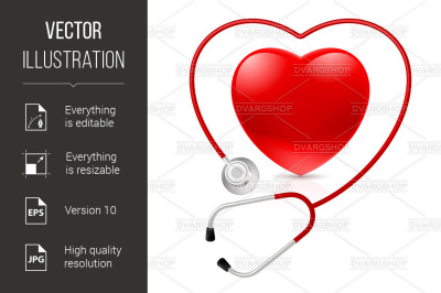 """""""Stethoscope and heart"""""""