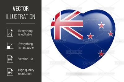 """Heart icon of New Zealand"""