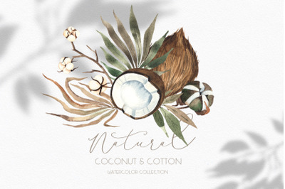 Natural. Coconut & cotton collection