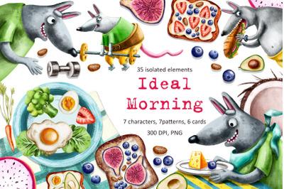 Ideal Morning - Clip Art Set