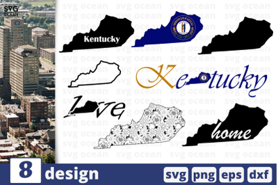 8 KENTUCKY svg bundle, map cricut svg