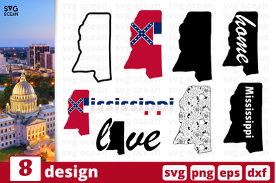 8 MISSISSIPPI svg bundle, map cricut svg
