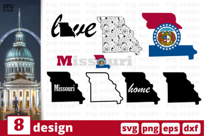 8 MISSOURI svg bundle, map cricut svg