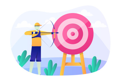 Archery Flat Illustration