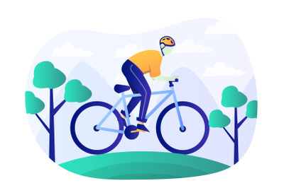 Mountain Bike Flat Illustration