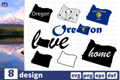 8 OREGON svg bundle, map cricut svg