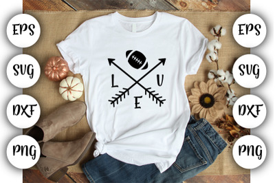 Love Football - Arrows  SVG ,DXF ,EPS,PNG