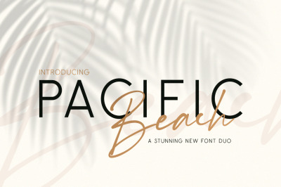 Pacific Beach Font Duo