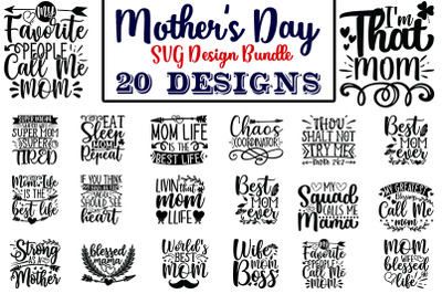 Mothers Day SVG Design Bundle