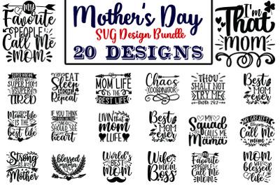Mothers Day SVG Design Bundle