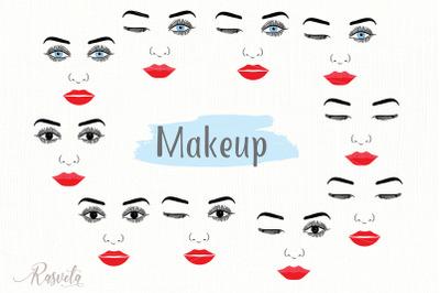Make up svg Female Face Makeup Eyelashes Eyes Lips /7