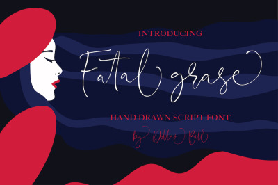 Fatal Grace. Signature Script Font.