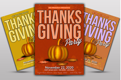 Thanks Giving Event Flyer