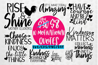 Motivational Quote Bundle SVG EPS DXF PNG
