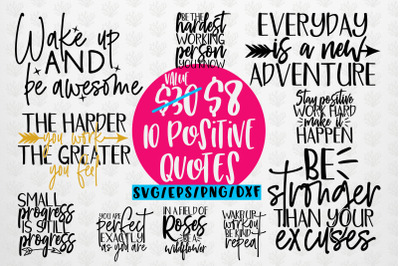 Positive Thoughts Quote SVG EPS DXF PNG