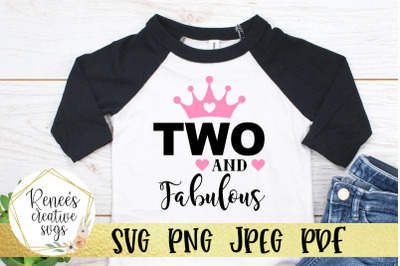 Two and Fabulous SVG