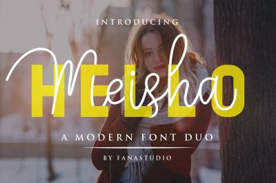 Hello Meisha a Modern Font Duo