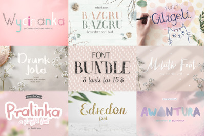 8 fonts - bundle