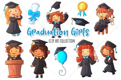 Graduation Girls Clip Art Collection