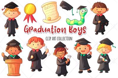 Graduation Boys Clip Art Collection
