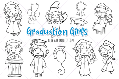 Graduation Girls Digital Stamps