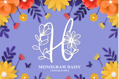 Monogram Daisy
