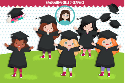 Graduation Girls Cliparts
