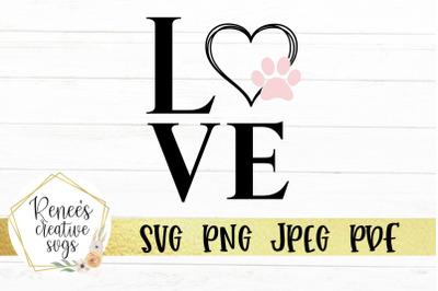 Love W/PawPrint Heart