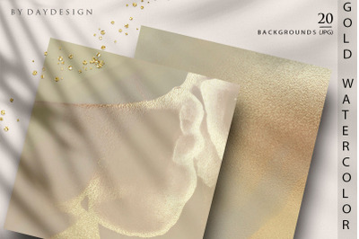 Gold Watercolor Backgrounds