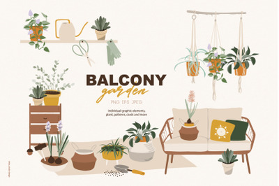 Balcony garden boho collection