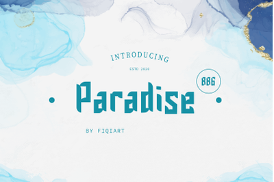 paradise 886 font display