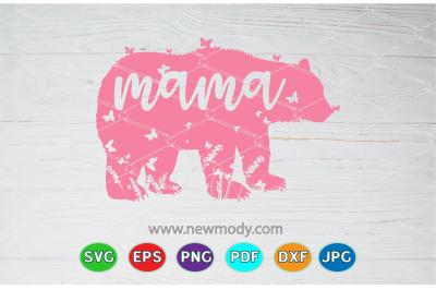 Mama Bear Svg - Butterflies Svg -Mama Svg