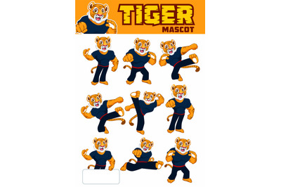 Tiger fighter mascot