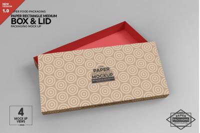 Medium Rectangle Paper Box&Lid Mockup
