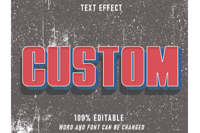 Custom Text Retro Style Effect Editable Grunge Texture Style Vintage
