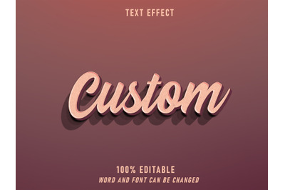 Custom Text Retro Style Effect Editable Style Vintage