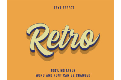 Retro Text Effect Editable Font Color Solid  Style Vintage