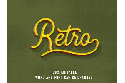 Retro Text Effect Editable Font Color with Paper Texture Style Vintage