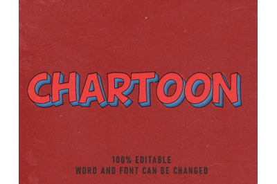 Chartoon Text Effect Comic Editable Font Color Style Vintage