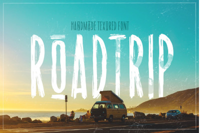 Road trip | dry marker textured font