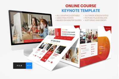 Online Course - Education Keynote Template
