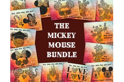 Mickey Mouse Svg Bundle, 23 Mandala svg, Zentangle SVG, Paper cutting,