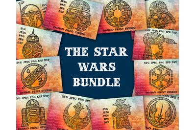 Star Wars Bundle Svg, 12 Mandala svg, Zentangle SVG, Paper cutting, Ve
