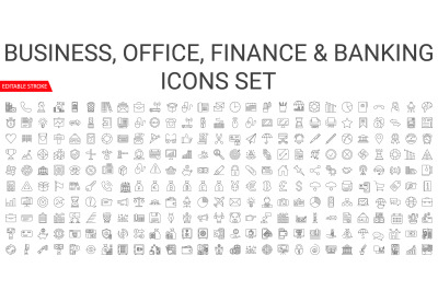 Business, Office, & Banking Icons