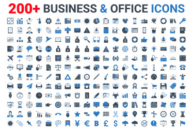 Business, Banking & Finance glyph icons set