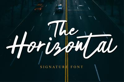 The Horizontal Signature Font