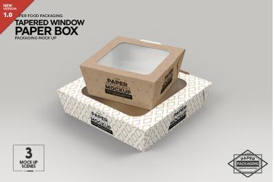 Paper Tapered Window BoxesPackaging Mockup