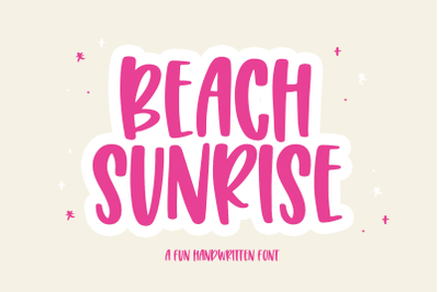 Beach Sunrise - Fun Handwritten Font