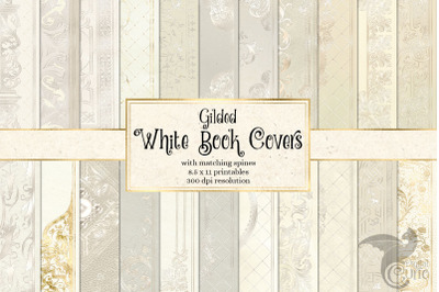 Gilded White Book Covers